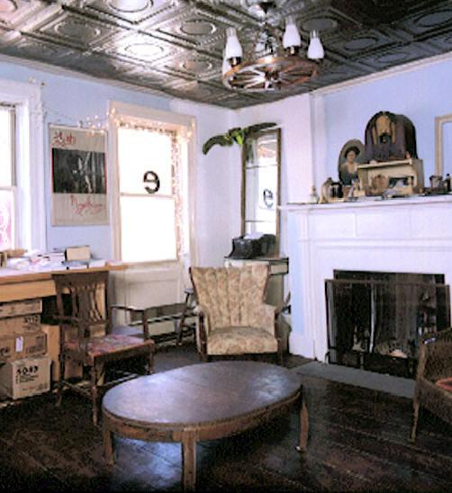 The second floor parlor above the Ear Inn bar. The spruce plank floors and fireplace are originals from 1817.
