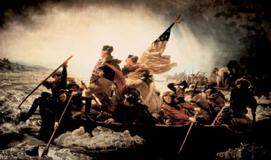 "Emanuel Leutze's ""Washington Crossing the Delaware (1854) This romantic vision of the historical event was painted in Germany.  Photo courtesy of the Metropolitan Museum of Art."